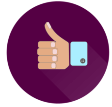 thumbs up drawing to indicate the positive aspects of participating in a clinical trial