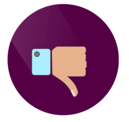 vector image of thumbs down - telehealth and medical scribes