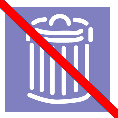 image trash can with red line over it - How Should You Dispose of Medications?