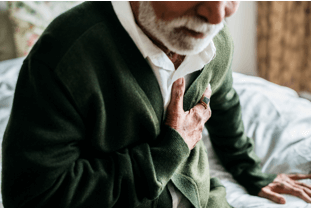 older man chest pain - adverse drug reactions