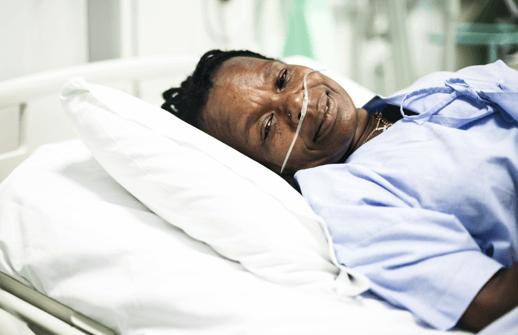 photo patient lying in hospital bed - antibiotics helpful or harmful?